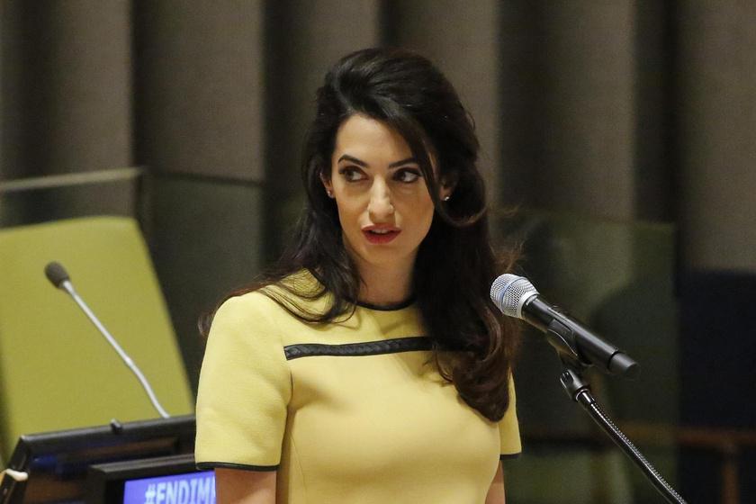 Friss! A szülés után visszatért Amal Clooney az agyonkínzott nő ügyén tovább dolgozik