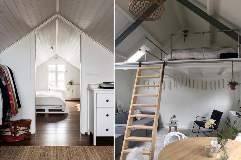 Ferde falak, kicsi hely: 12 gyönyörű megoldás tetőréti lakásokba