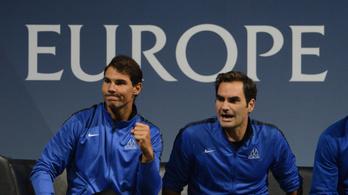 Federer és Nadal egy oldalon küzd meg a világgal