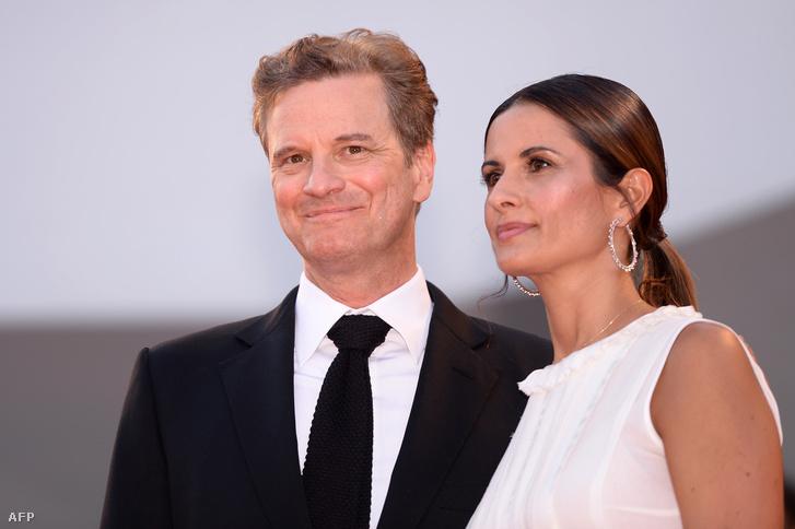 Colin Firth és felesége, Livia Giuggioli a 2016-os velencei filmfesztiválon