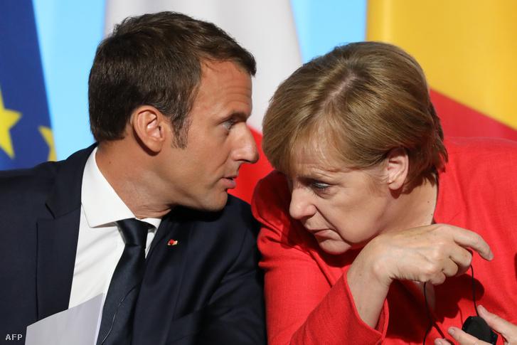 Macron és Merkel