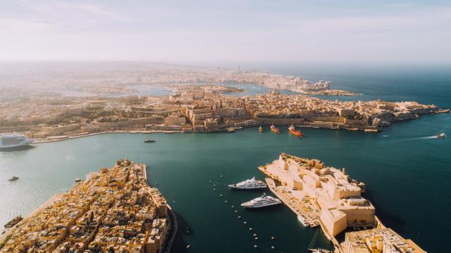 Málta Három Városának látképe