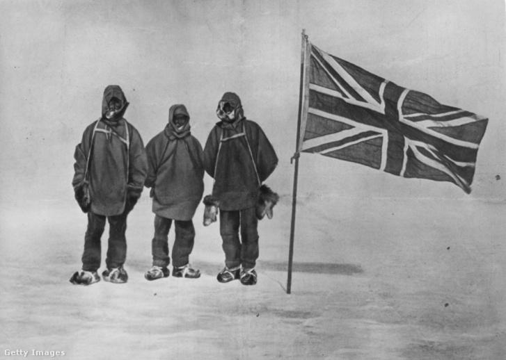 Shackleton expedíciójának három tagja 1909-ben