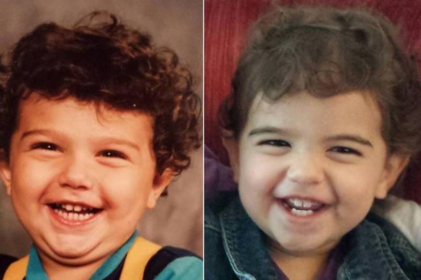 Corin és Kane - apa és fia elképesztően hasonlít egymásra ezen a két fotón. Mintha csak ugyanaz a kisgyerek lenne a két képen.
