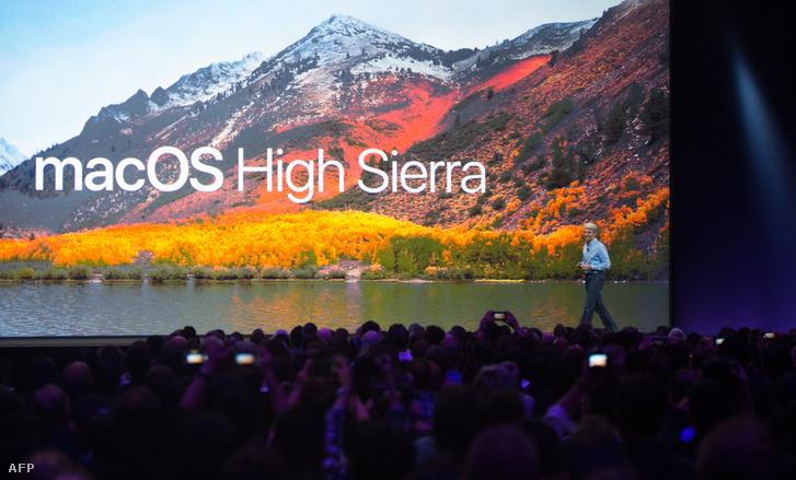 Craig Federighi a macOS High Sierra bemutatóján