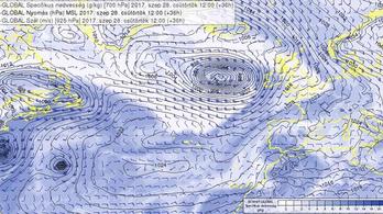Hétfőn ideér a hurrikánokból származó eső
