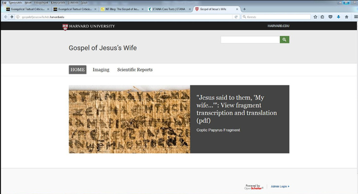 Így tűnt el szépen fokozatosan a szenzációs lelet a Harvard honlapjáról