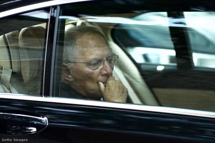 Wolfgang Schäuble az uniós pénzügyminiszterek szeptemberi találkozóján