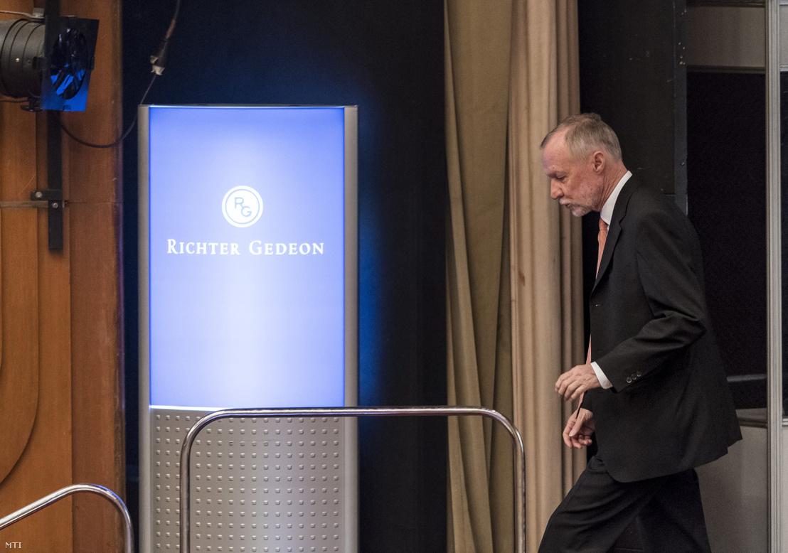 Bogsch Erik az igazgatóság elnöke a Richter Gedeon Nyrt. éves rendes közgyűlésén a fővárosi Honvéd Kulturális Központban 2017. április 26-án