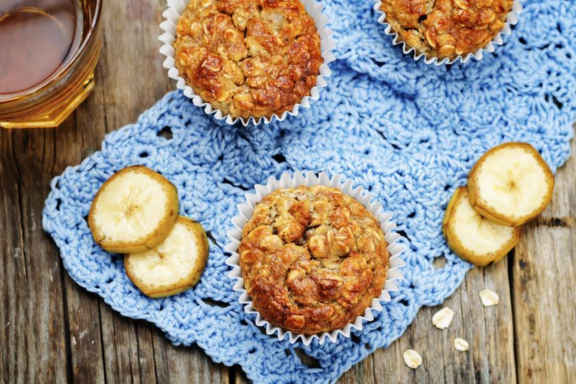 30 perces banános, zabpelyhes muffin - Igazi fogyókúrás álomsüti