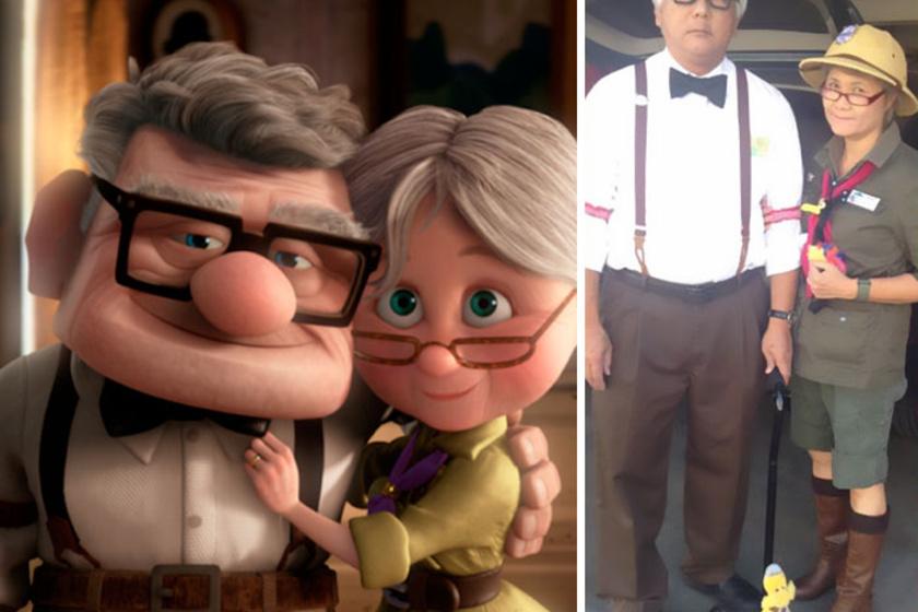 Steven és Millie először három éve öltöztek be, azóta pedig teljesen odavannak a jelmezekért. Itt például a Fel! című animációs filmből alakultak Carllá és Ellie-vé.