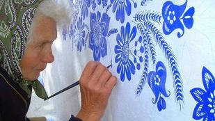 90 évesen lett festő egy cseh nagymama