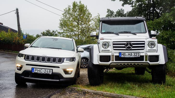 A kettő közül a Jeep a józanabb autó