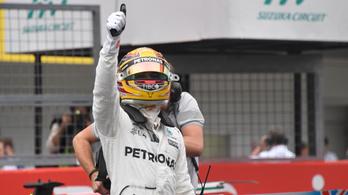 Hamilton óriási pályacsúccsal szerezte meg első pole-át Szuzukában