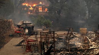 Bozóttüzek pusztítanak a kaliforniai borvidéken