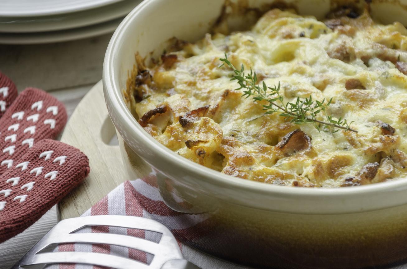 Krémes, baconös csirke krumplival sütve - A sok tejszíntől lesz jó szaftos