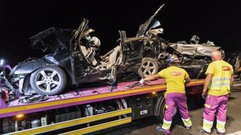 Brutális baleset a spanyol autópályán