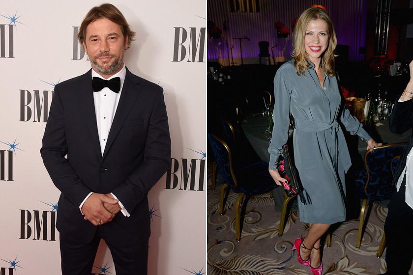 Jay Kay és felesége, Maria a díjkiosztó gálán hétfőn este Londonban.