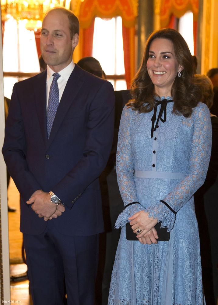 Most viszont férjével, Vilmos herceggel újra együtt jelentek meg - egy fogadáson, amelyet mentálhigiénés szakembereknek tartottak.