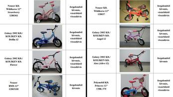 A fogyasztóvédelmi szakemberek kezében maradt a vadiúj bicikli ülése