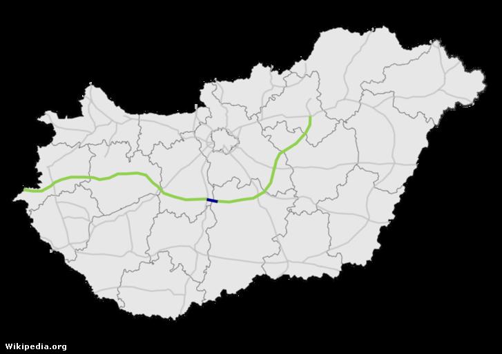 Az M8 autópálya tervezett nyomvonala
