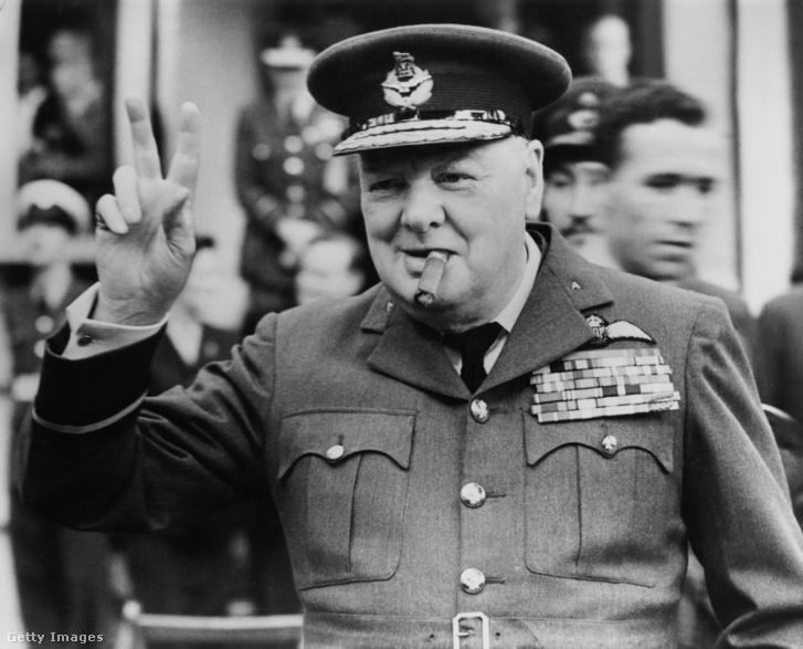 1948-as fotó Winston Churchillről és az elmaradhatatlan szivarról