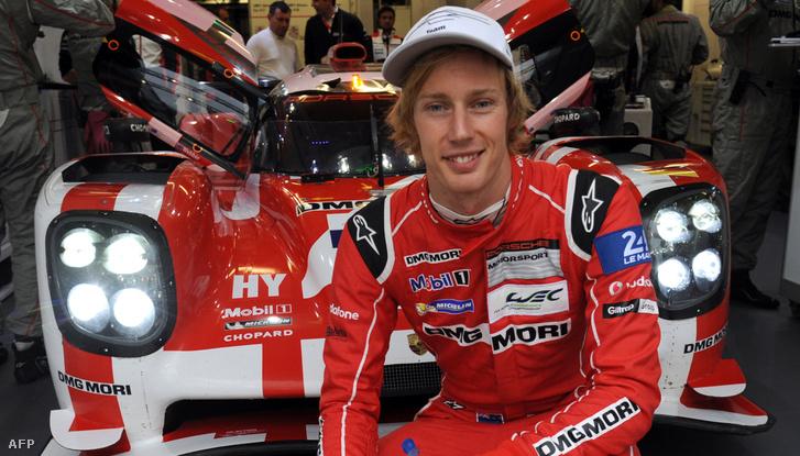 Brendon Hartley és a Le Mans-i Porschéja