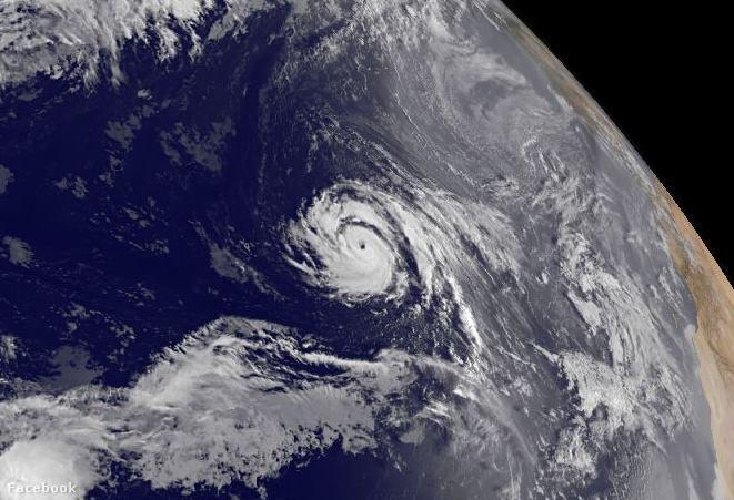 Ophelia a NOAA műholdképén