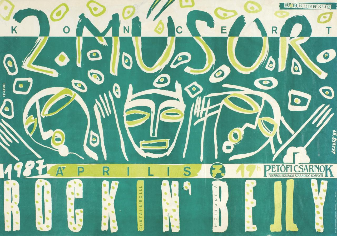 A nyolcvanas években nem léteztek óriásplakátok. Az egyetlen reklámhordozó az utcai hirdetőoszlop volt, amire csak álló formátum kerülhetett. A zenekarok még ebben is újítottak, rengeteg felvő formátumú plakátot készítettek, így reformálva meg a városképet.