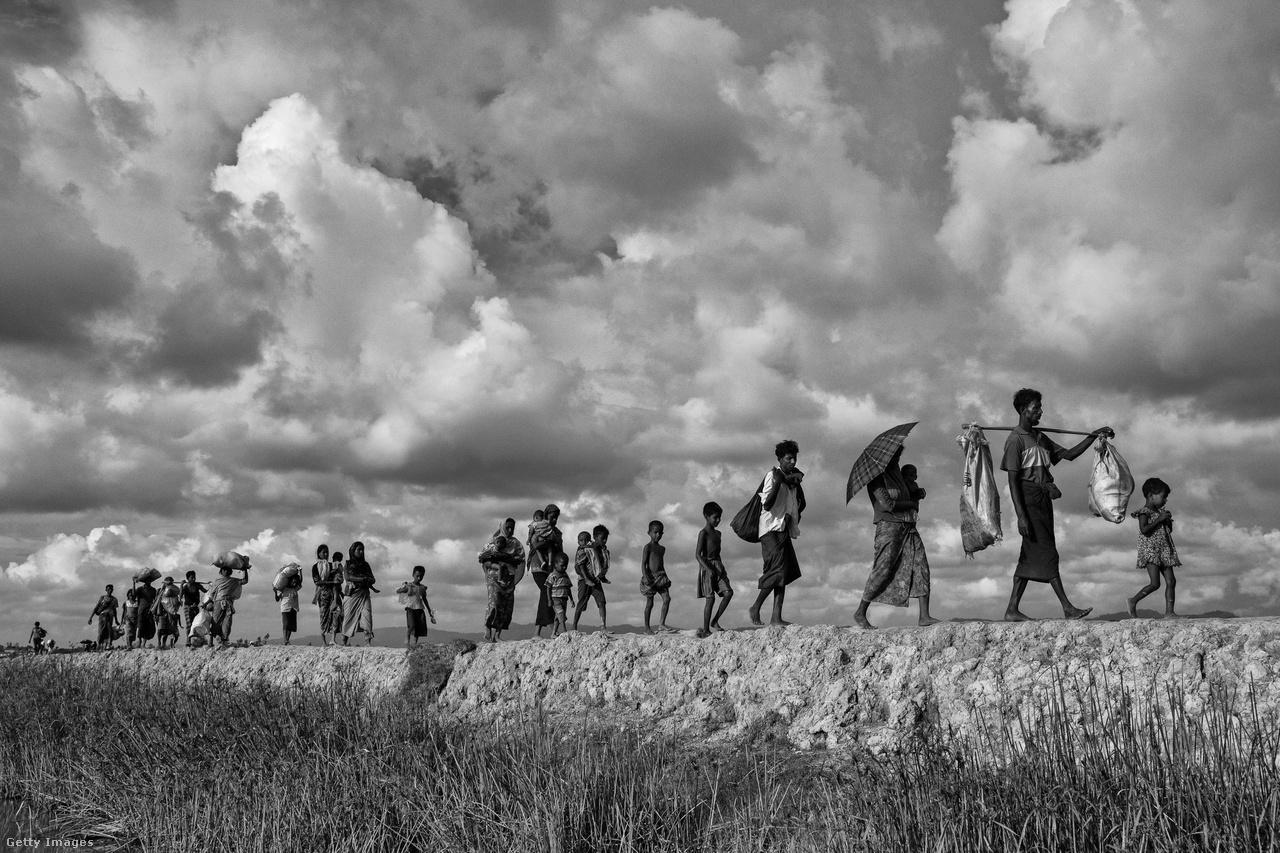 Rohingja menekültek, a Naf-folyó bangladesi oldalán. A katonai akciók miatt most befogadja őket a világ egyik legsűrűbben lakott és egyik legszegényebb országa, de korábban Banglades sem volt segítőkész. Hiába a közös muszlim vallás, a Bangladesben eddig is élő 400 ezer rohingja is másodrendű állampolgárként élt országában. De még mindig jobb a helyzetük, mint a buddhista Mianmarban, ahol a vallási különbség is fokozta a nyomást, ráadásul a rohingják állampolgárságot sem kaphattak és mozgásukban is korlátozták őket a hatóságok. Ezért korábban - az augusztusi mianmari katonai akciók előtt - is voltak menekültek, de őket a határ bangladesi oldalán inkább igyekeztek erővel visszaűzni Mianmarba.