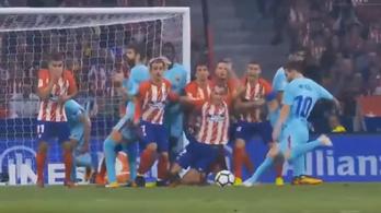 Volt némi pánik Messi lövése előtt a sorfalban