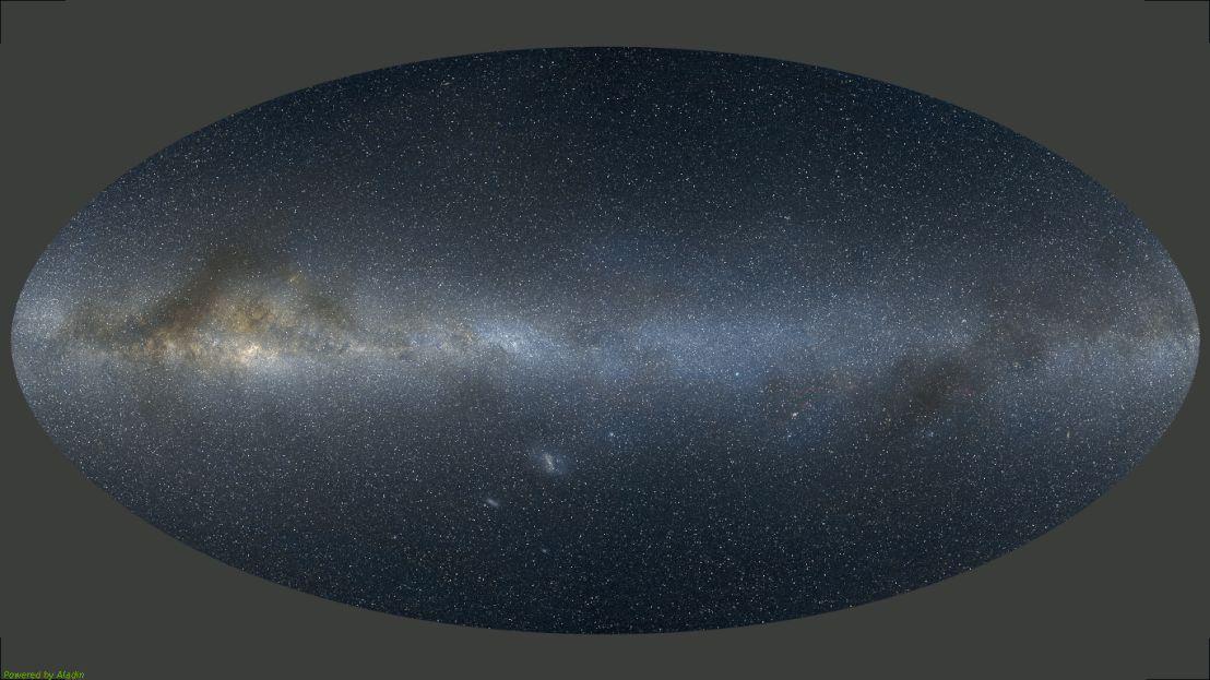 Az eddig észlelt gravitációs hullámokhoz meghatározott égterületek.