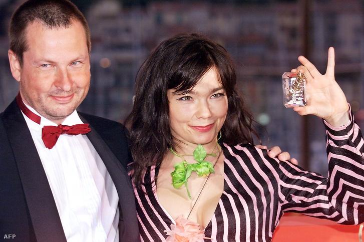 Lars Von Trier és Björk Cannes-ban 2000-ben
