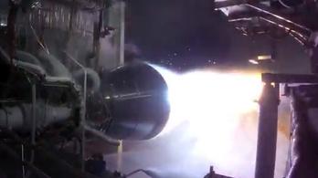 Tesztelték a Blue Origin rakétahajtóművét