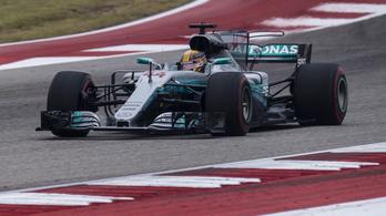Hamilton félelmetes pályacsúccsal, Schumacher-rekordot döntve nyerte az amerikai időmérőt