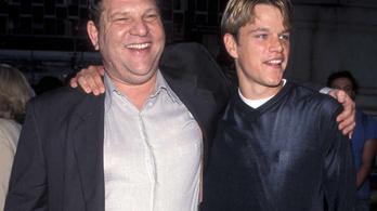 Matt Damon tudta, hogy Weinstein nőfaló, de azt nem, hogy erőszakos is