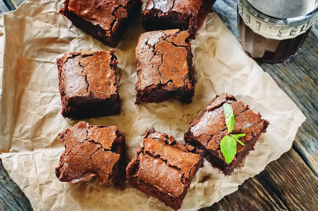 Брауни рецепт классический с какао пошагово в