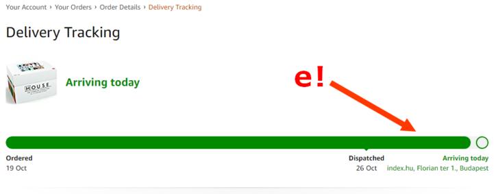 1a6f7e5329 Október 26-án kaptam egy értesítést emailben, hogy a csomagom kiszállításra  került. De hát mára ígérted, bazmeg, gondoltam kelletlenül, és csak  reflexből ...