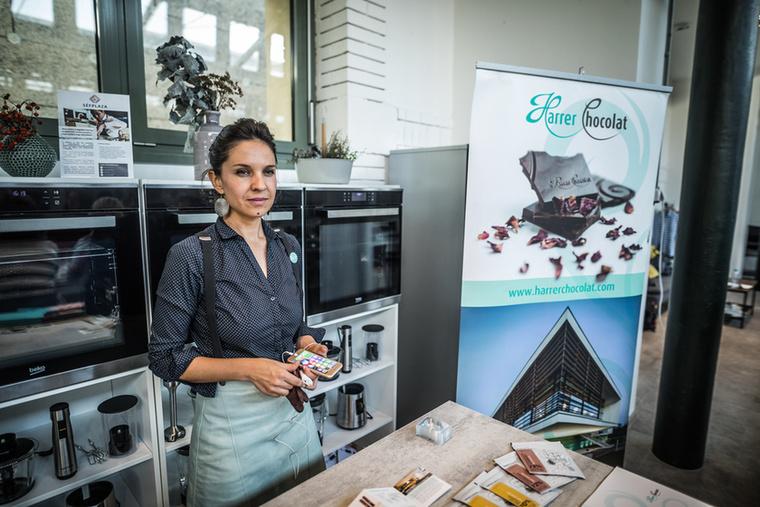 A desszertet például a soproni Harrer Csokoládéműhely csokiszakértője készítette el ezen az estén.