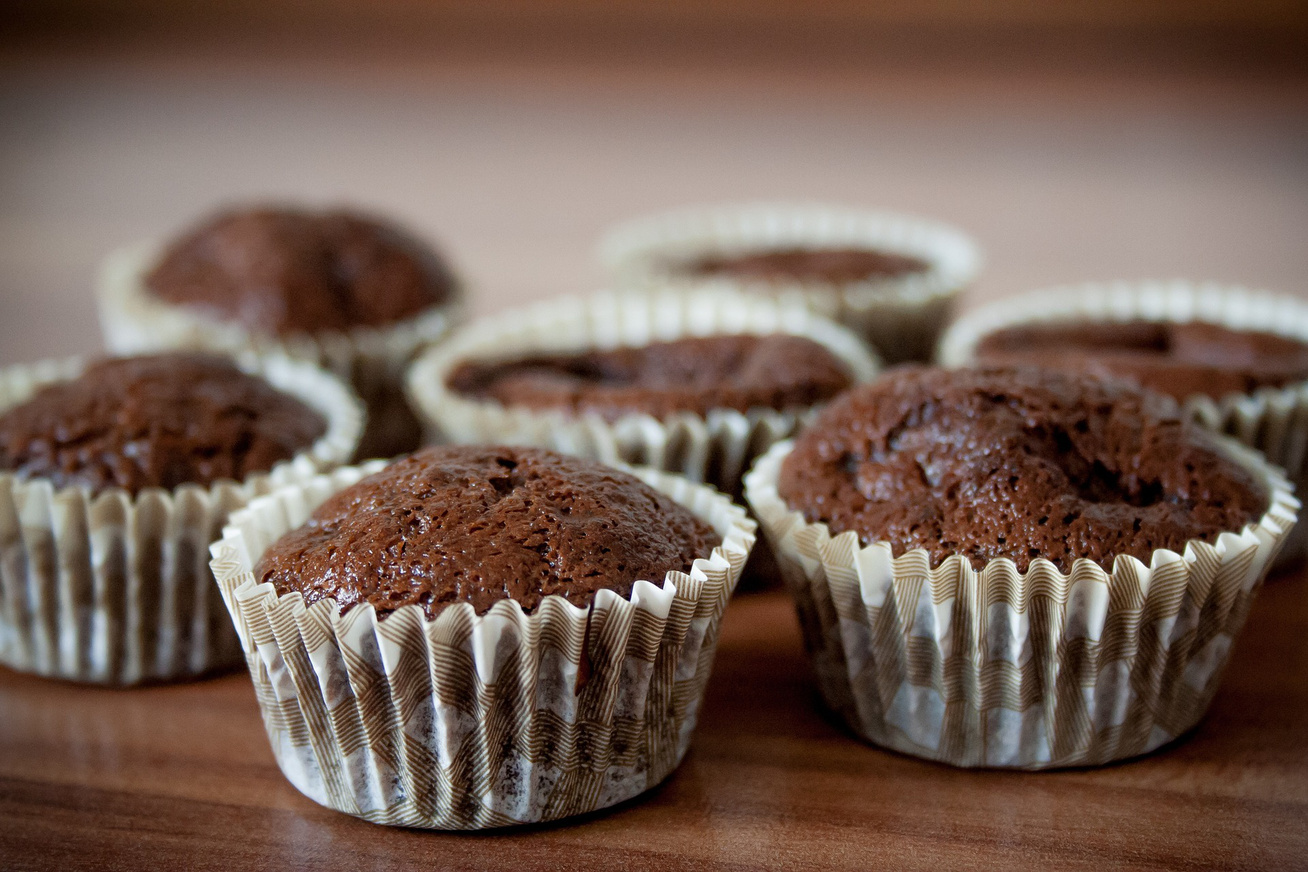 30 perces csokis-gesztenyés muffin - A tészta puha, könnyű és omlós