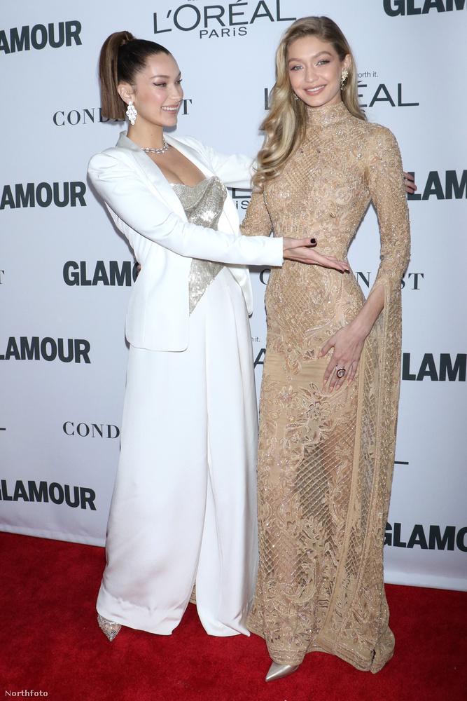 A húg láthatóan büszke a nővérére, és van is miért: Gigi Hadid a Supernova díjat vihette haza, amelyet Serena Williamstől kapott meg
