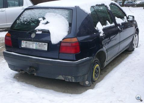 Dunakeszin megtalalt lopott Volkswagen 110115  NAKE100