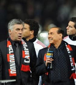Ancelotti és Berlusconi, hjaaj