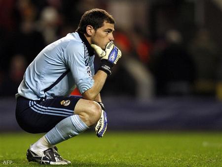 Casillas tartja meccsben a madridiakat