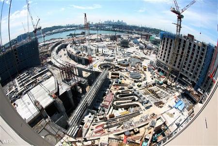 Szingapúrban a tervezett nyitás: 2010