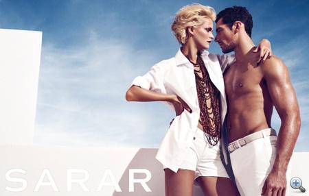 David Gandy és Carmen Kass a Sarar nevű cég reklámkampányában