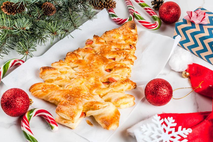 Karácsonyfa alakú töltött süti leveles tésztából – Fenséges és gyönyörű