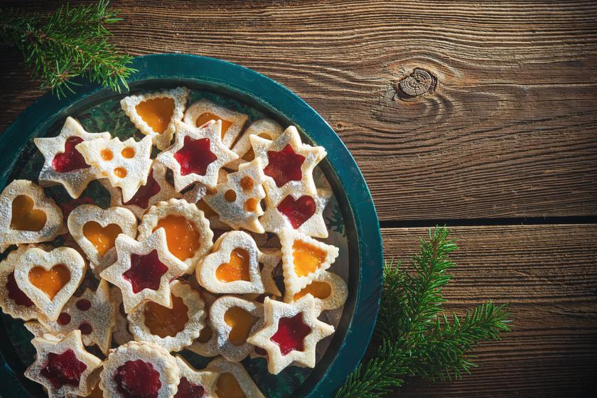 Lekváros karácsonyi linzerek: így biztosan omlós lesz a tészta