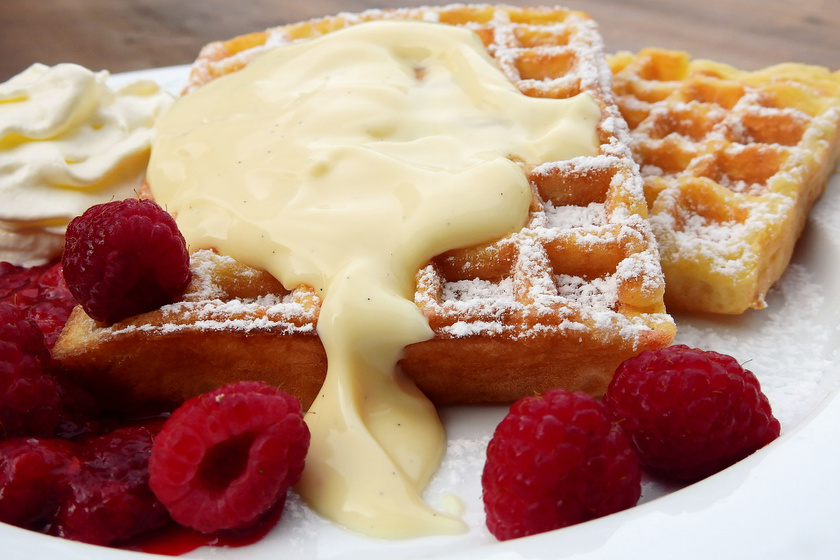 Francia gofri házi, vaníliás öntettel - Mostantól csak ezt a receptet használod