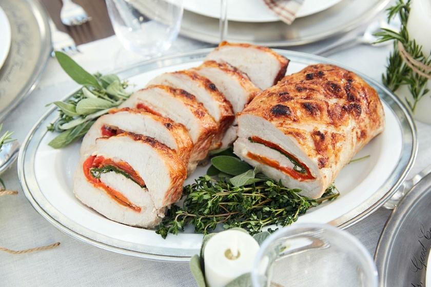 Sajttal, spenóttal töltött sertéskaraj: fantasztikusan omlós lesz
